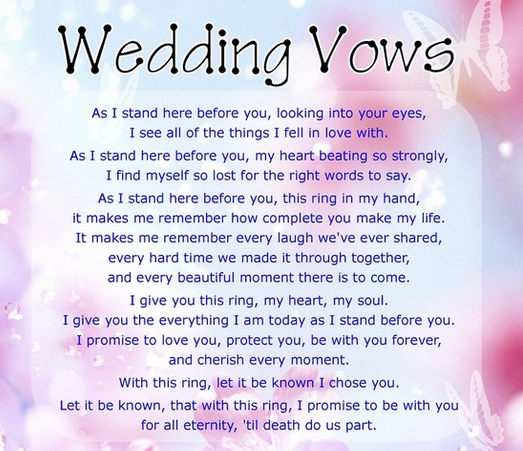 A Complete Guide To Writing Your Own Vows