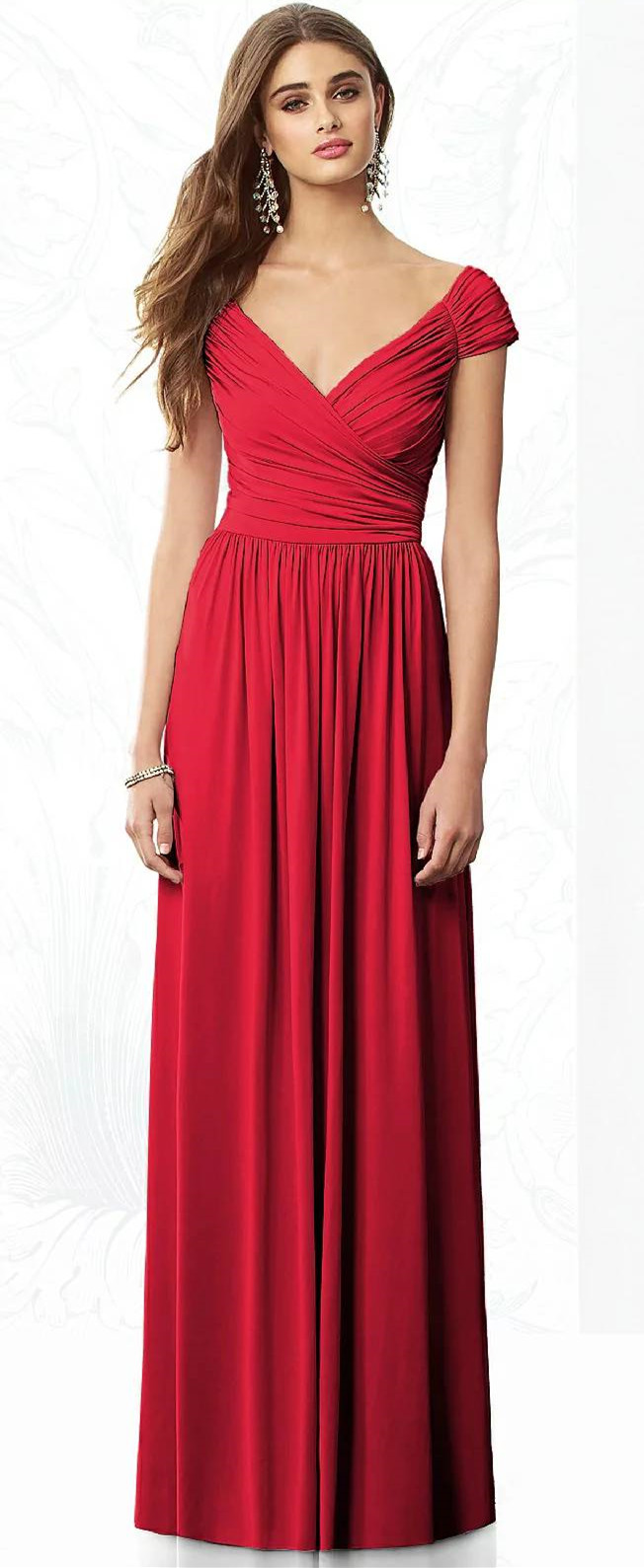 20 most popular red bridesmaid dresses for different shapes