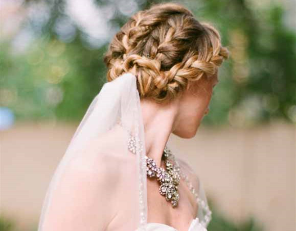 Peachy 10 Fabulous Wedding Updos With Veil Everafterguide Hairstyles For Men Maxibearus