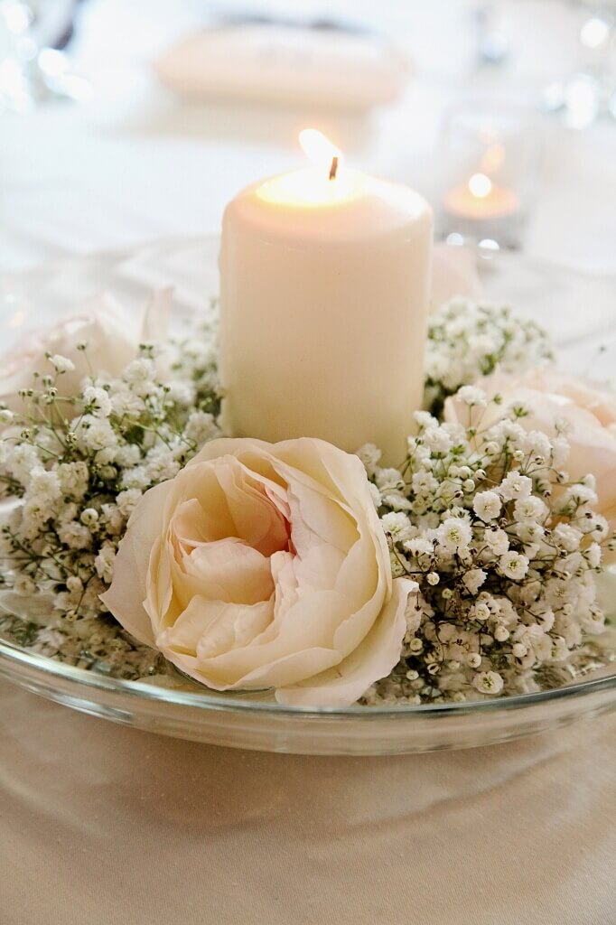 Wedding Flower Arrangements For Round Tables : Centerpieces for round tables in different styles