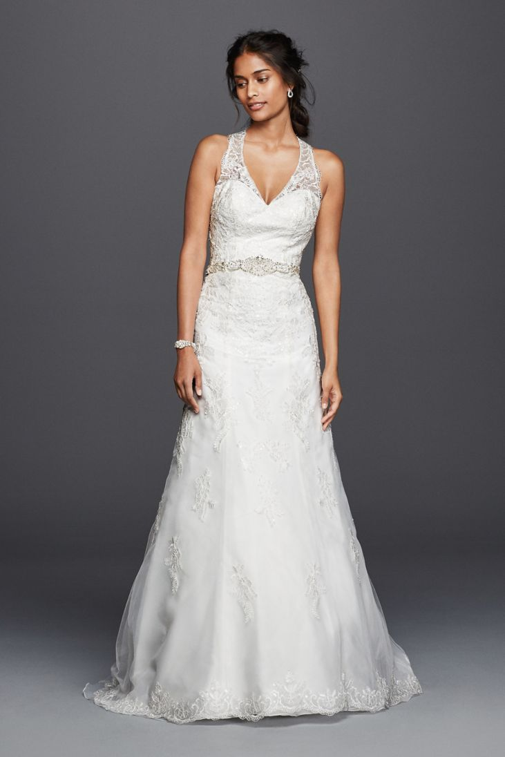 24 elegantly tailored wedding dresses for pear shaped body for Aline halter wedding dresses