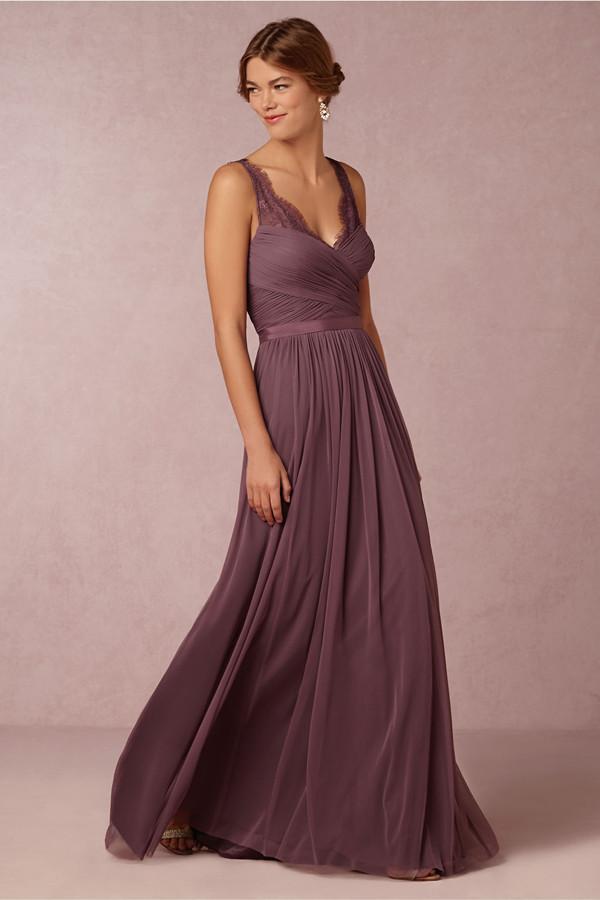 20 Most Elegantly Designed Plum Bridesmaid Dresses