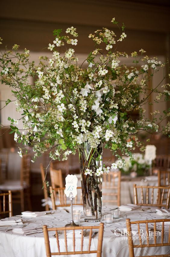 28 centerpieces for round tables in different styles for Floral table decorations for weddings