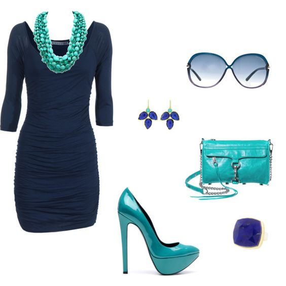 What color jewelry goes with navy blue dresses What color goes good with blue