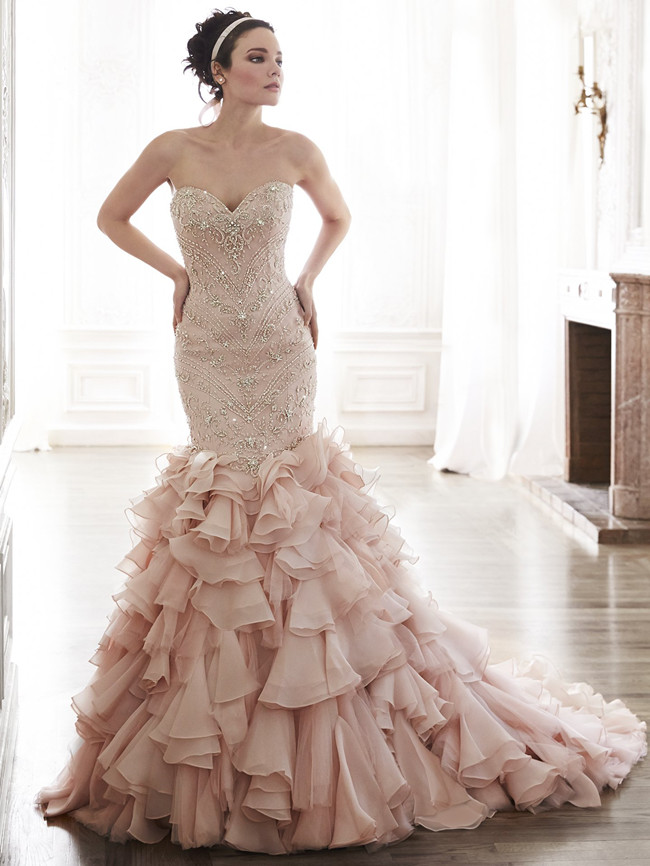 Add some color 19 stunning colored wedding dresses for Wedding dresses with a little color