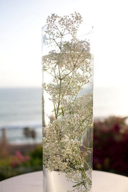 how to make a tall centerpiece using floral foam