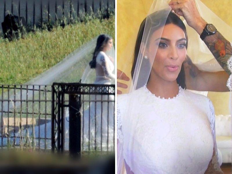 Kim kardashian wedding dress kanye west