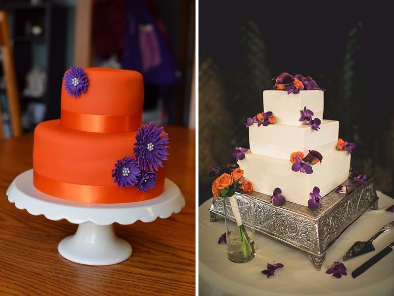 purple and orange wedding cake ideas 20 orange and purple wedding ideas everafterguide 18864