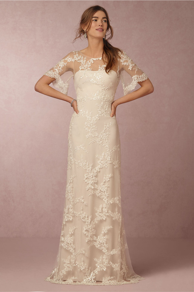 c5e17186334 bhldn anthropologie wedding dress 2011 eyelet medley sheath gown ...