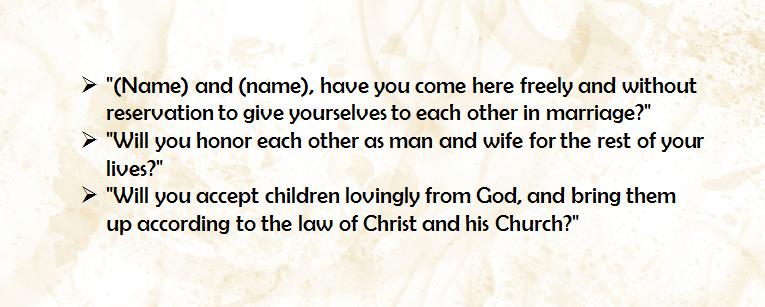 Detailed Explanation About Catholic Wedding Vows
