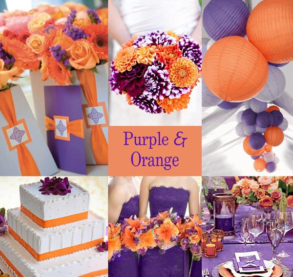 Purple Ideas For Weddings: 20 Orange And Purple Wedding Ideas