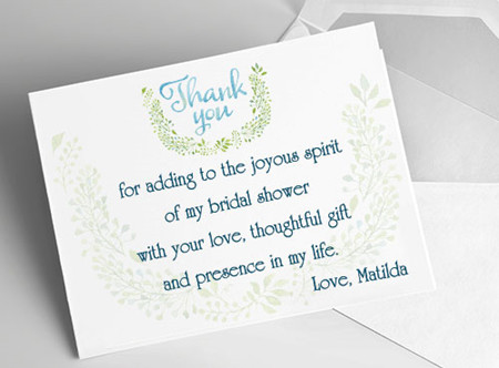 Etiquette and Samples: Bridal Shower Thank You Notes - EverAfterGuide