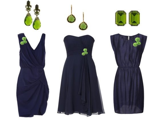 What Color Jewelry Goes With Navy Blue Dresses