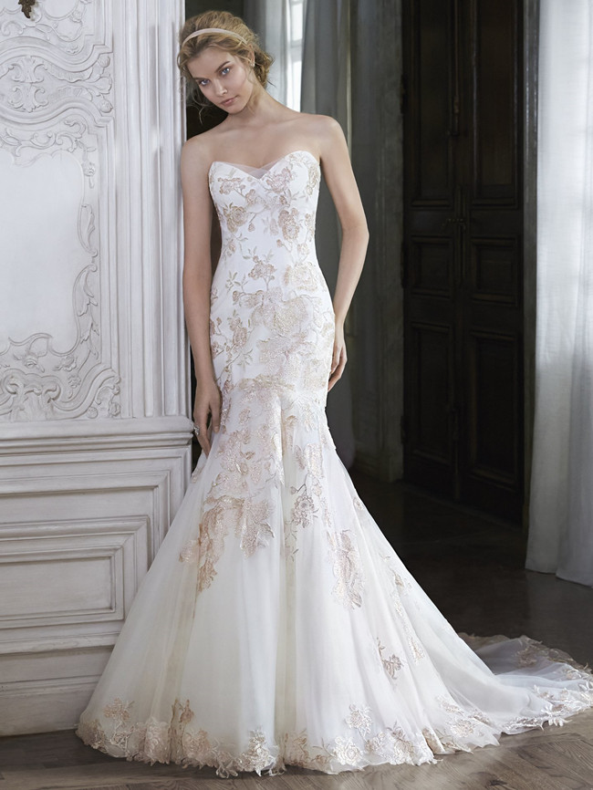 Add some color 19 stunning colored wedding dresses for Diamond sweetheart wedding dress
