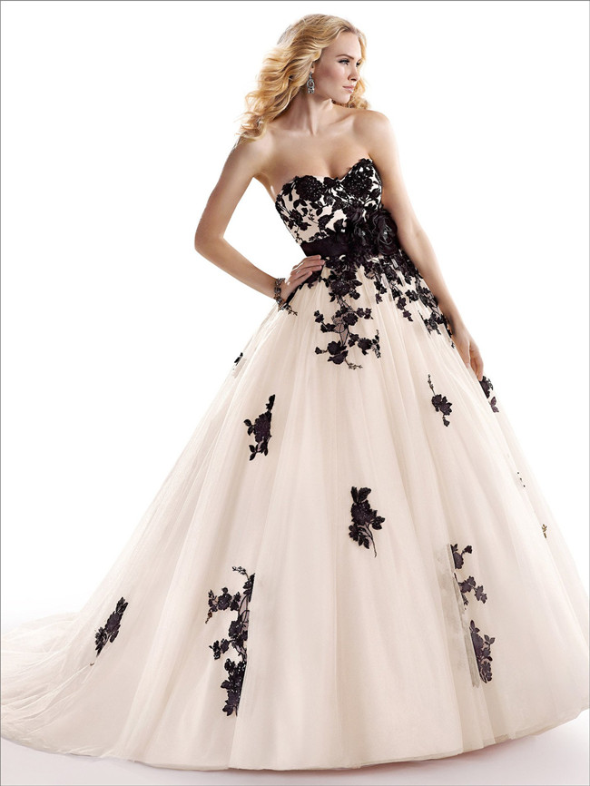 Wedding Dresses With Little Color : Add some color stunning colored wedding dresses