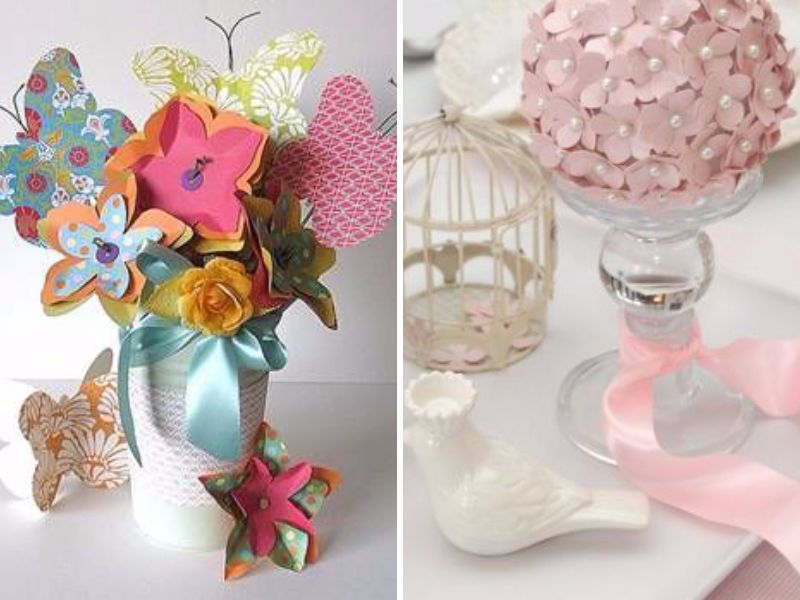 Creative and wonderful bridal shower centerpieces