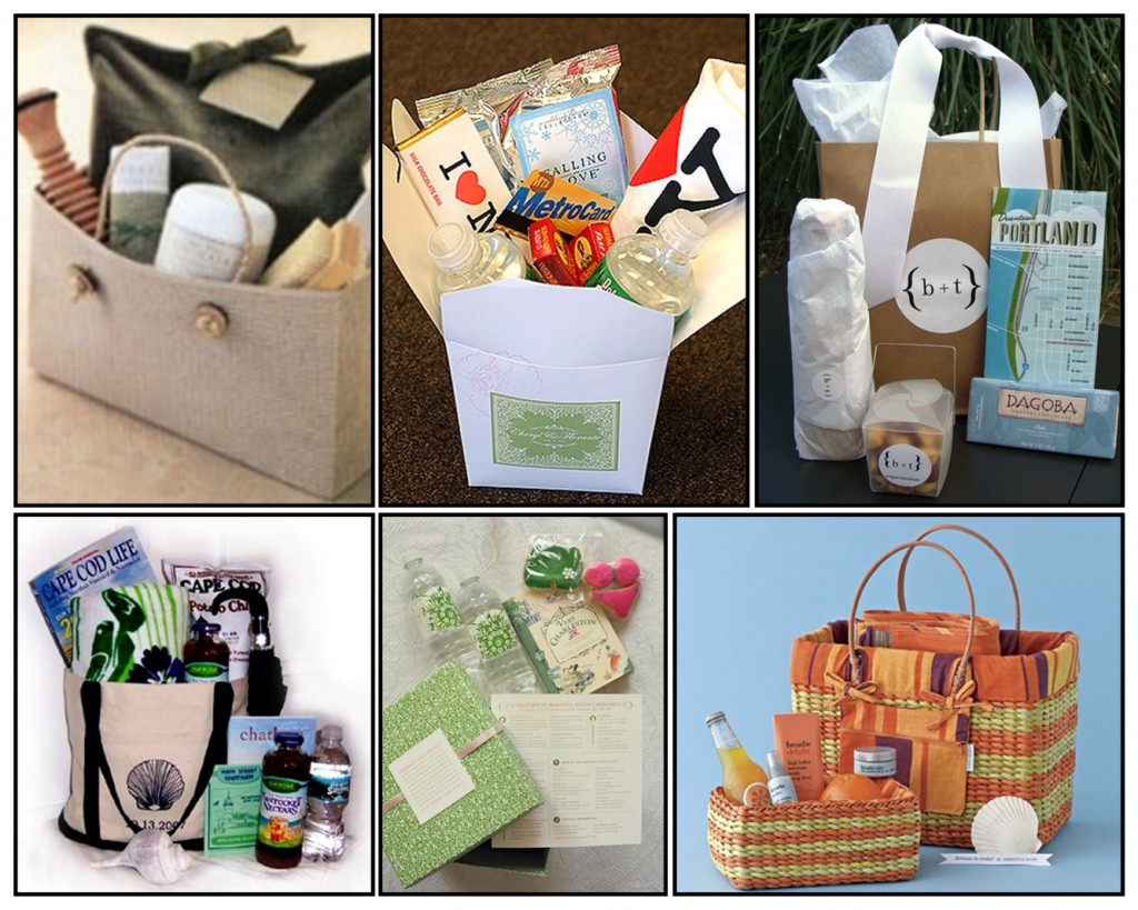 Gift Bag Ideas For Wedding Guests: Wedding Gift Baskets For Out Of Town Guests