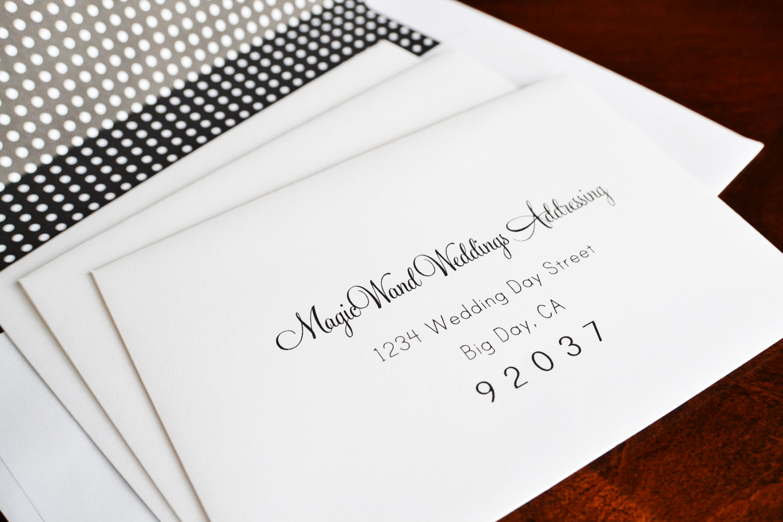 write address on envelope wedding