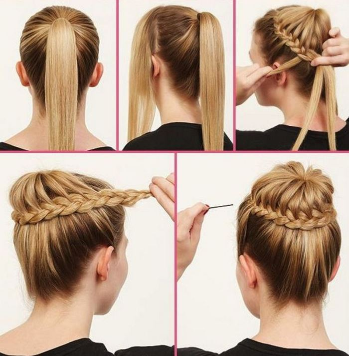 Excellent Bun Hairstyles With Pictures Within 5 Steps Everafterguide Hairstyles For Women Draintrainus