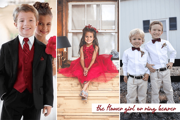 As Mini Brides And Grooms What Looks Really Cute But About An All Red Dress To The Flower Or Add On A Bow Tie Ring Bearer