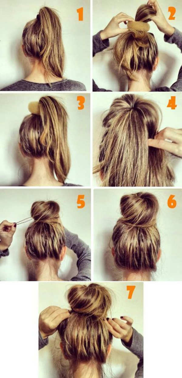 Astounding Bun Hairstyles With Pictures Within 5 Steps Everafterguide Short Hairstyles Gunalazisus