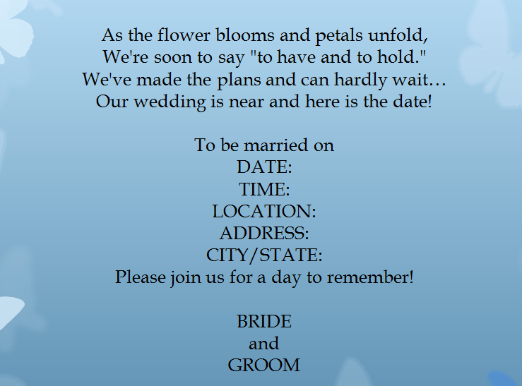 Wedding Invitation Templates Word Free For Invitations