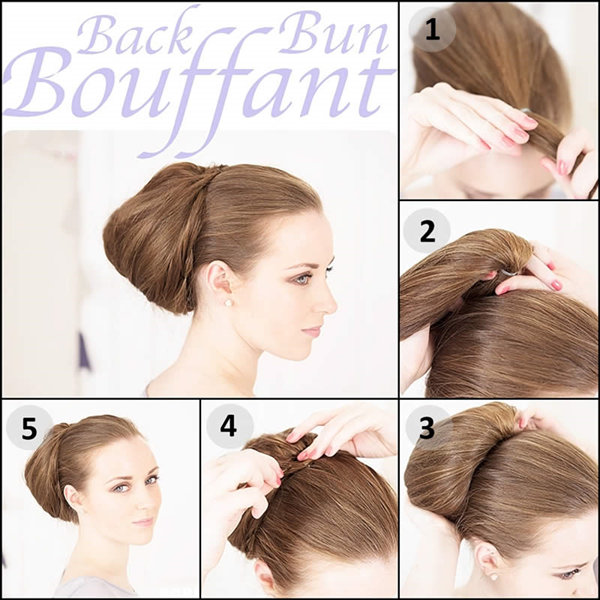 hair styling tutorials bun hairstyles with pictures within 5 steps 8094