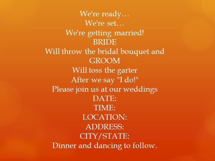 Fun Wedding Invitation Wording with adorable invitations template