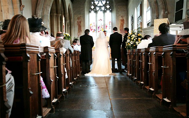 how much does it cost to get married in a church