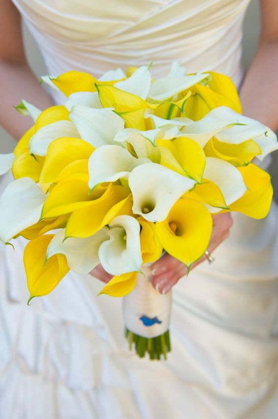 yellow calla lily wedding bouquet from pastels to vibrant hues 15 most beautiful calla 1514