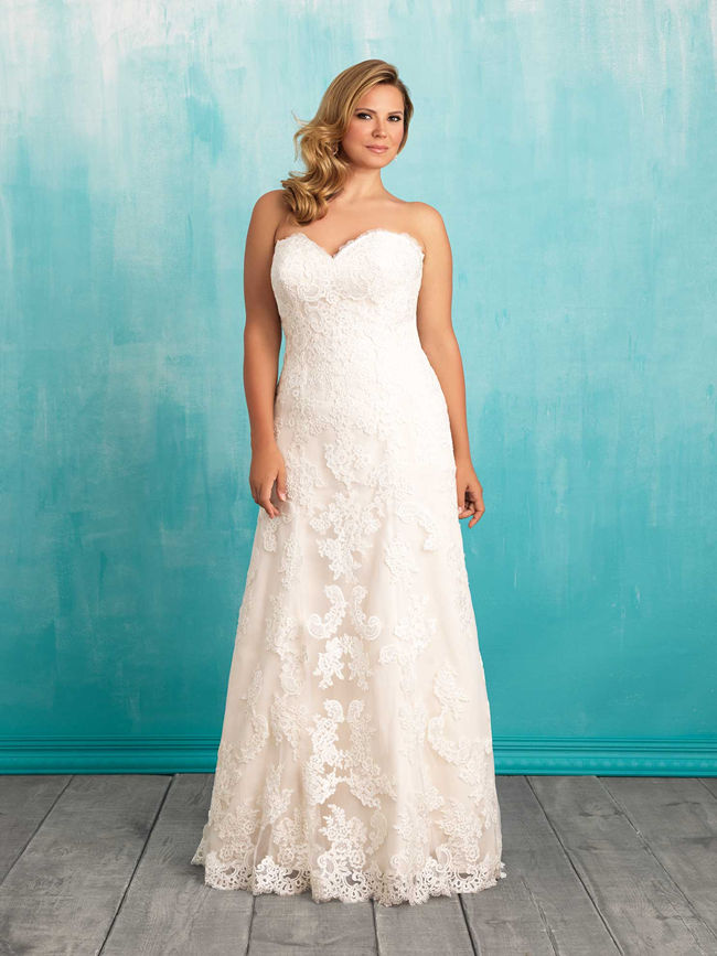 25 best curvy wedding dresses for plus size brides for Wedding dresses for large hips