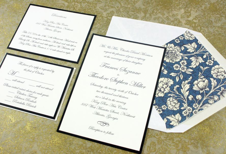 Standard Size For Wedding Invitation