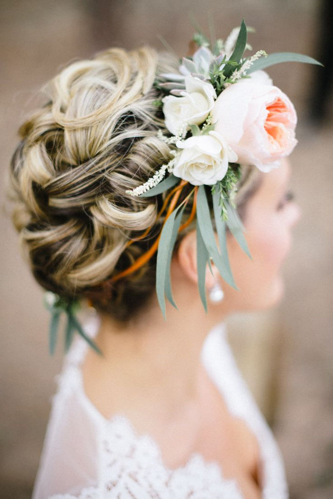 Bridal Floral Hairstyles : Gorgeous wedding hairstyles with flowers everafterguide