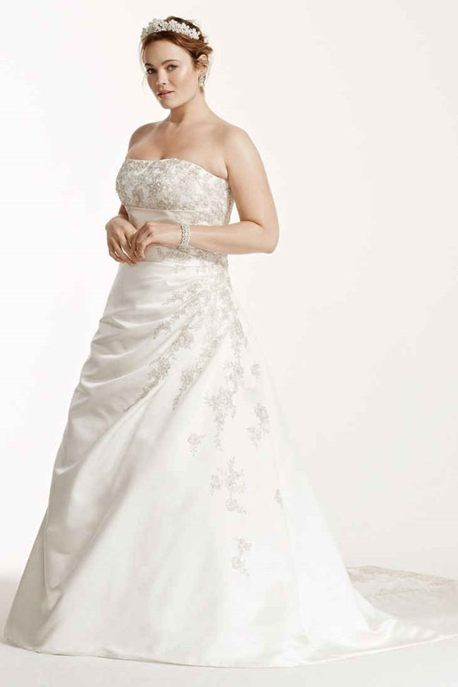 25 best curvy wedding dresses for plus size brides for Plus size silk wedding dresses