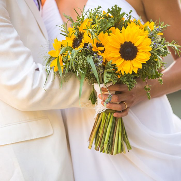 Bridesmaid Bouquets Sunflowers : Bright pastel or wild fabulous summer wedding