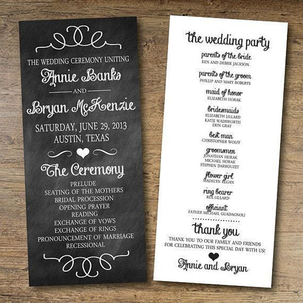 Papers And Ink Top Wedding Program Templates