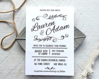 Reception Invite Wording as luxury invitation example