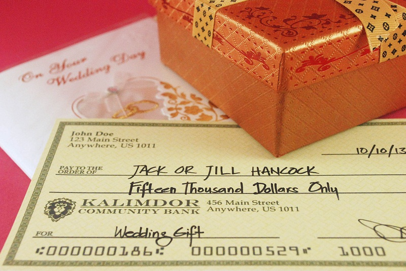 Wedding Invitation Etiquette Gifts Money : ... match the amount of cash to the cost of the gift they have given you