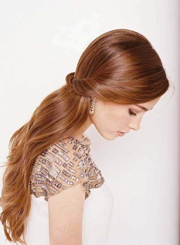 Marvelous Straight Wedding Hair Inspirations For Your Big Day Everafterguide Short Hairstyles Gunalazisus