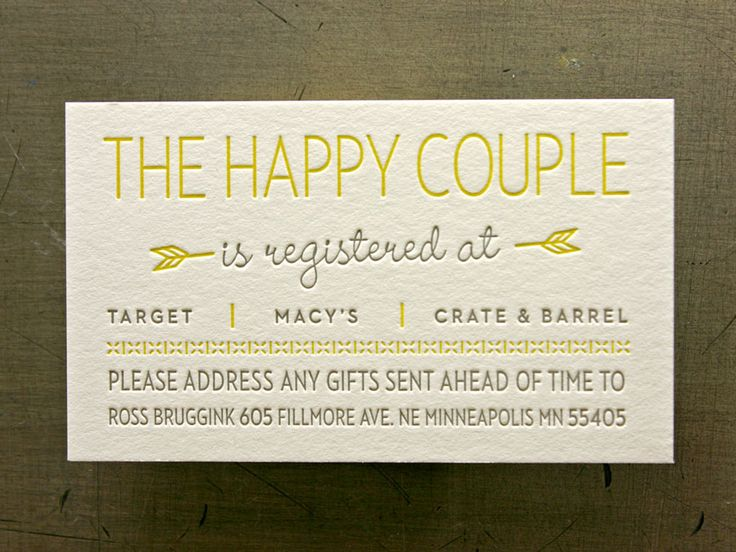 Wedding Invite Information: Registry Cards For Wedding: Etiquettes To Follow