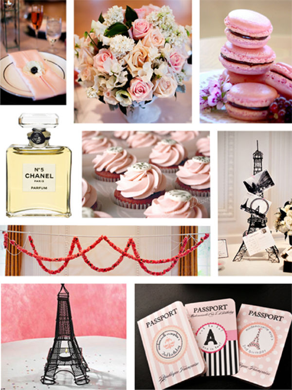 Party like a french diva how to plan a fabulous paris for Paris themed invitations bridal shower
