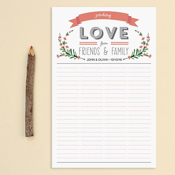 Printable Wedding Guest List Template. Free Wedding Guest List