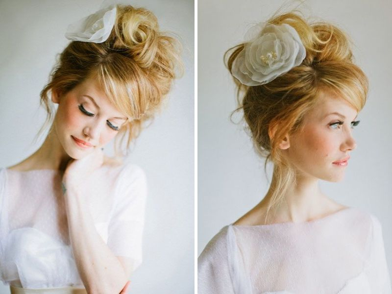 Awesome 30 Best Wedding Bun Hairstyles Everafterguide Hairstyle Inspiration Daily Dogsangcom