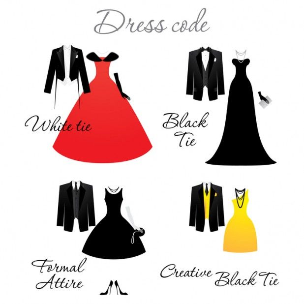 Formal Attire On Wedding Invitation: Dress Code On Wedding Invitations