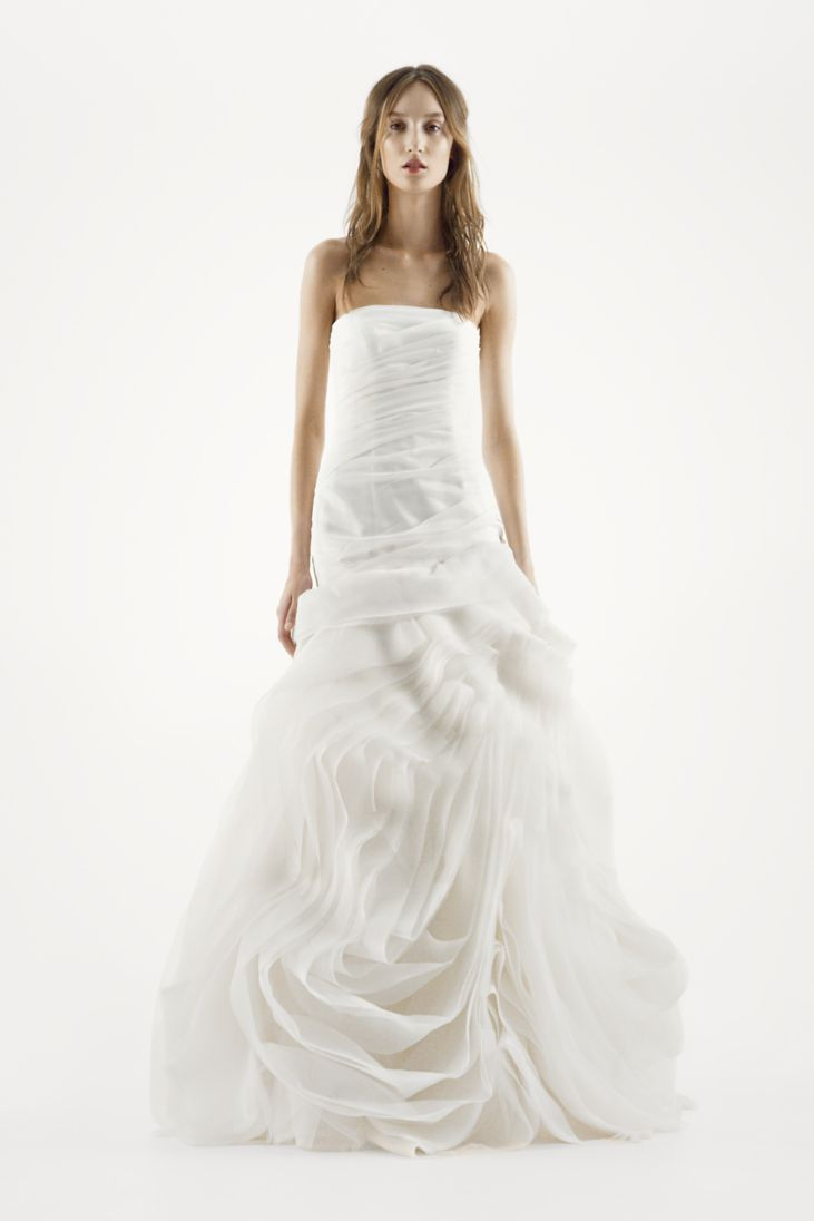 vera wang trumpet wedding dresses trumpet wedding dress Anza Trumpet Wedding Dress White By Vera