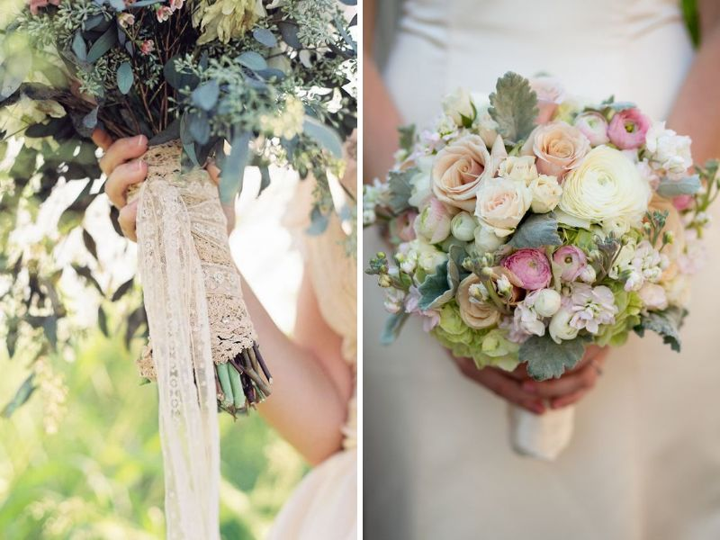 13 ideas for a vintage inspired wedding wedded wonderland 3 floral bouquet junglespirit Choice Image