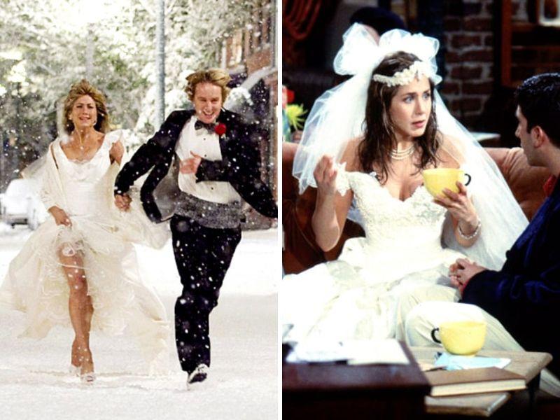 Jennifer Aniston Wedding Dress And Wedding Everafterguide