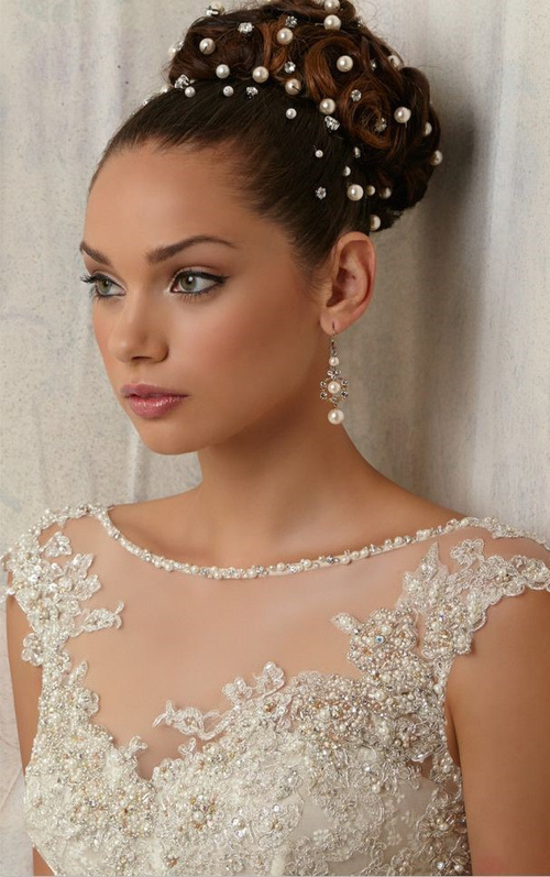 Stupendous 30 Best Wedding Bun Hairstyles Everafterguide Short Hairstyles Gunalazisus