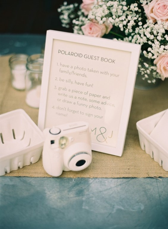 polaroid wedding guest book instructions