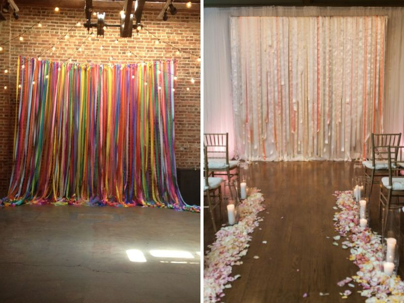Wall Decorations With Ribbon : Best wedding wall decoration ideas everafterguide